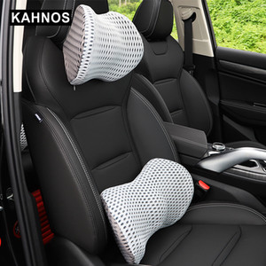 Car Neck Pillows Mesh Memory Cotton Breathable Soft Comfortable Neck Rest Headrest Cushion Pillow Car Interior Accessories