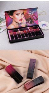 venta caliente del maquillaje 12 HUDAMOJI color de lápiz labial Conjunto antiadherente Copa de larga duración barra de labios mate impermeable envío