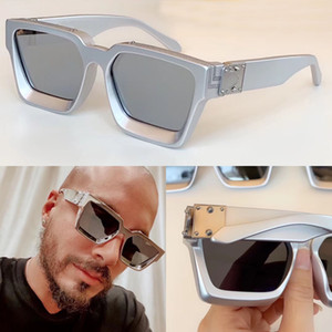 popular fashion design sunglasses millionaire square silver frame classic design new color top quality outdoor avant-garde uv400 lens 1165