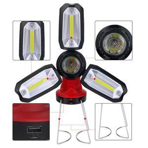 Складная фонарь LED Garage свет питьевое обслуживание Светой работа перезаряжаемой чрезвычайная палатка лампа