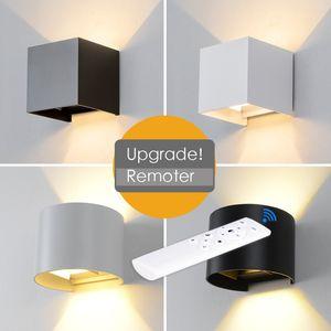 Regolabile LED 6W lampada da parete IP65 impermeabile coperta Superficie luce esterna della parete in alluminio fissato al cubo LED Luce Giardino Veranda