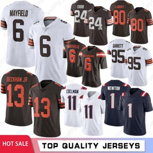 1 Cam Newton 13 Odell Beckham Jr 6 Baker Mayfield Homens Jerseys 21 Denzel Ward 80 Landry 2020 Hot 11 Julian Edelman 12 Tom Brady