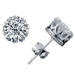 925 silver earrings natural crystal wholesale fashion small sterling silver jewelry for women stud men or women earings .