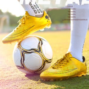 Autumn Long Spikes Size 35-44 Men Boy Kids Soccer Cleats Turf Football Soccer Shoes Hard Court Sneakers Trainers Football Boots