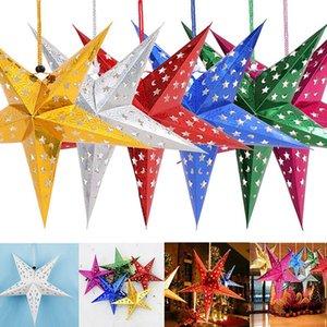 Árbol de Navidad de plástico de alta estrella de cinco puntas, estrella colgante de Navidad Toppers árbol para la decoración del partido