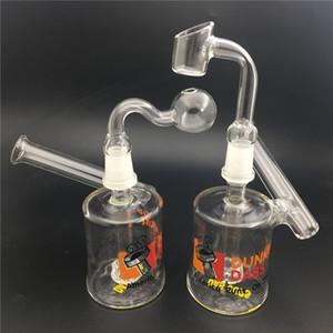 Dunkin limanda Vaso tubos de los quemadores de aceite de cristal burbujeador fumar pipa de agua Plataformas DAB con accesorios conjuntos de 14 mm