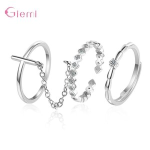 Hot Selling New Fashion 2 Colors Open Rings For Women Silver Authentic 925 Wedding Statement Jewelry Accessory Brincos