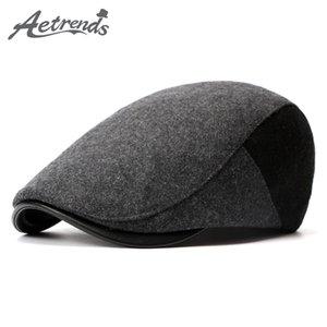 [AETRENDS] 2020 New Winter Berets England Style Beret Hats for Men or Women Visor Cap Z-3976