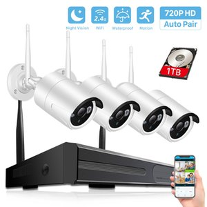 4CH 1080P HDMI Wireless NVR Security Camera System 720P 1.0MP IR Outdoor CCTV WiFi Camera P2P Video Surveillance Kit