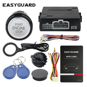 Easyguard RFID car alarm system with smart push start button and valet mode keyless go system dc12v