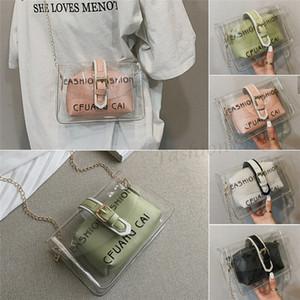 PVC trasparente della spalla del NoEnName-Null Donne Tote Bag della caramella della gelatina della spiaggia di estate borsa