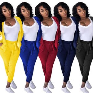 Women Tracksuit Plus Size 2 Piece Set Sportswear Cardigan Pants Sweatsuit Leggings Outfits Hoodies Bodysuits Fall Winter Clothes S-XXXL