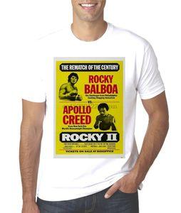 Новый Rocky 2 Борьба Плакат Рокки против Аполло Крид Футболка Outfit Tee Shirt