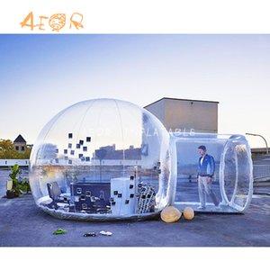 Прозрачная надувной пузырь ясно палатка для наружного кемпинга 3х надувного пузыря комнаты