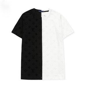 Moda Solid 3D floreale manica corta modello T-shirt progettisti maglietta di alta qualità Estate Streetwear Tee T casuali cotone della camicia