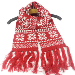 2020 Hiver chaud Glands écharpe Enfants de Noël Imprimé Snowflake Echarpes jacquard enfant armure Foulard chaud Wraps Cape Sacrf Vente D91007