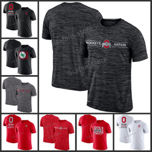 Mens Ohio State Buckeyes Team Issue T-shirt Performance GFX Velocity Listine Legend Performance Tee Sleeves College Pullover magliette