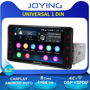 "6.2"" Single 1 Din Head Unit Android Radio 4GB+64GB Octa Core Car Stereo GPS Navigation Built-in DSP 4G Modem Zlink OBD Player car dvd"