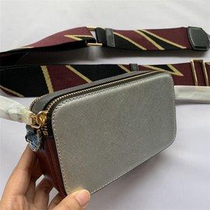 2020 nouveau large sac caméra épaule sacs croix cuir avancée de mode simple sac à bandoulière de luxe polyvalent sac à main de femmes petit sac carré
