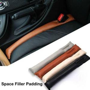 2PCS 부드러운 가죽 자동차 시트 커버 갭 필러 스토퍼 자동차 좌석 쿠션 틈새 간격 패드 필러 새는 것이 수호자 자동차 액세