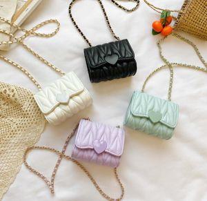 Çocuklar Cüzdanlar Çocuk Pu Düz Min Aşk Hasp Çapraz vücut Çanta Mix Renkler tek omuz çantası hediye için en iyi