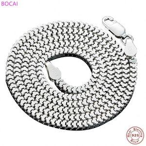BOCAI S925 Серебряного ожерелье для мужчин и женщин ключицы цепи 2020 новых моды популярных тайских серебряного ожерелья ювелирных изделий