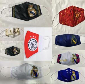 Basketbol Futbol Pamuk Futbol Takımı Hayranları Maskeler Real Madrid Bezi Kulübü Nefes Spor Yıkanabilir Tekrar Kullanılabilir Açık Desinger Maske