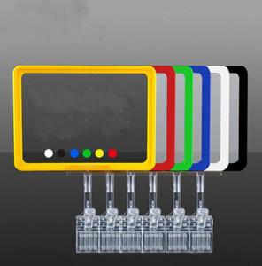 Affichage de l'étiquette rack signe cadre Clamp Sur l'étagère Supermarket étagère prix Porte-étiquette clip Publicité Bannière Vente