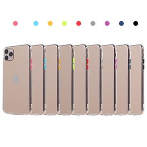 TPU Soft Case with Colorful Button Protector for Iphone 11 iphone X Muti Colors Optional High Quality Cover