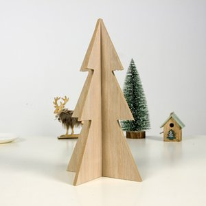 Christmas Simple Creative Household Decoration Wooden Christmas Tree Splicing Decoration #E