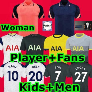 Tottenham 20 21 KANE Bergwijn Início camisa de futebol estimula Mulher POLO 2020 2021 LUCAS DELE SON uniformes de futebol camisa NDOMBELE Men + crianças kit