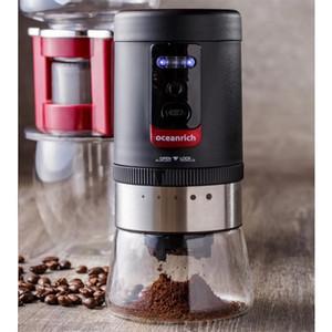 USB электрической Кофемолка Портативная перезаряжаемая кофе в зернах мясорубка с регулировкой пятиступенчатой