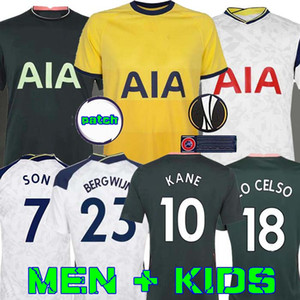 Men + KIDS KIT 20 21 KANE SON Bergwijn Ndombele Fußballjerseys 2020 2021 LUCAS DELE TOTTENHAM Trikot Football Kit Shirt LO CELSO HOME DIER