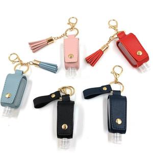 ومن ناحية المطهر زجاجة غطاء PU جلدية الشرابة حامل حقائب سلسلة المفاتيح كيرينغ بروتابلي التخزين غطاء التخزين الرئيسية منظمة GWE1645