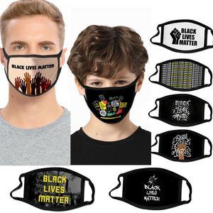 2020 DHL Black lives matter designer face Mask Face Mouth Masks Funny Anti-Dust Cotton USA Unisex Fashion Washable masks