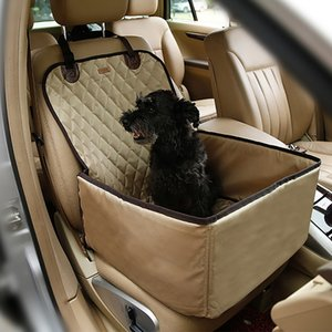Pet Car Seat Front Seat Cover for Dog Cat Portable 2-in-1 Dog Protection Non-Slip with Safety Belt Waterproof