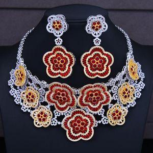 missvikki Blume CharmsLariat Halskette Nigerian Dubai Schmucksachen für Frauen CZ Hochzeit Brautschmuck 2020