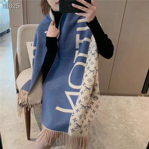 2020 새로운 알파벳 다양한 더블 매치 색 긴 수염 스카프 수석 선물 스카프 패션 디자이너 스카프 자카드