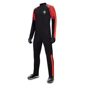 Марокко футбольный клуб для мужчин Футбол Tracksuit XXL Футбольные болельщики Версия с длинным рукавом спортивный костюм куртки футбол Джерси вентиляторы