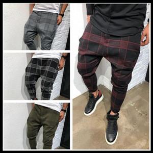 2020 Ekose Erkek Casual Pantolon Çizgili Kare Baskılı Sweatpants Harem Pantolon Erkek Kış Dama Moda Erkek Streetwear