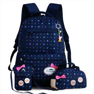 Children School Bags Teenagers Girls Printing Rucksack school Backpacks 3pcs Set Mochila kids travel backpack Cute shoulder bag