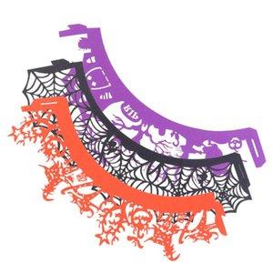3 Packs / Set Halloween паук Pattern Очаровательной оберточной бумага торт декор полые из декора полых из обертки Cupcake Упаковщики