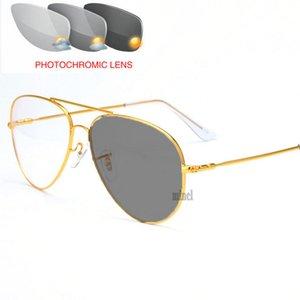 Открытый фотохромные очки для чтения Мужчины Progressive Мульти Фокус обесцвечивание Presbyopia Hyperopia Pilot Reading Glasses NX