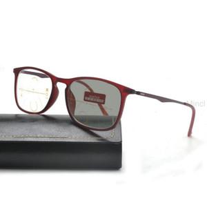 2020 Fashion Rectangular Full Rim Progressive Multi-Focus Photochromic Lens Unisex Reading Glasses uv400 with box FML