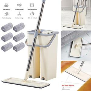 Piatto Mop manuale della famiglia-libero pigro Mop secco ed umido Mopping Suit Piano kit di pulizia Sistema di pulizia