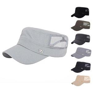 las mujeres de la moda de los hombres de verano de secado rápido sombrero plano del sombrero del sol la luz sombreado tapas netas gorra de béisbol ajustable
