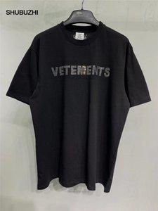 Etiqueta Vetements hombres de las mujeres camisetas de 1: 1 de alta calidad de la camisa de gran tamaño 280g peinados de algodón Vetements Tees T Vetements