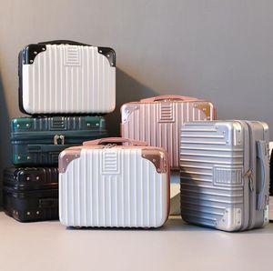 New Style Suitcase Women Small Makeup Bag Light Portable Travel Bag Mini Cute Lady Cosmetic Handbags