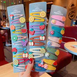 de I5Nb2 Crianças acessórios cabelo Ice cream Fruit cocar coreano BB menina hairpin clipe cocar bebê bangs clipe de sorvete de frutas hai