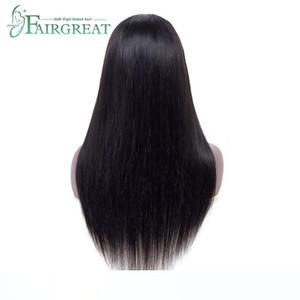 Front Wigs droite brésilien dentelle cheveux 150% Densité 360 Lace Front Wigs avec bébé cheveux réglable Cap 100% Remy Hair